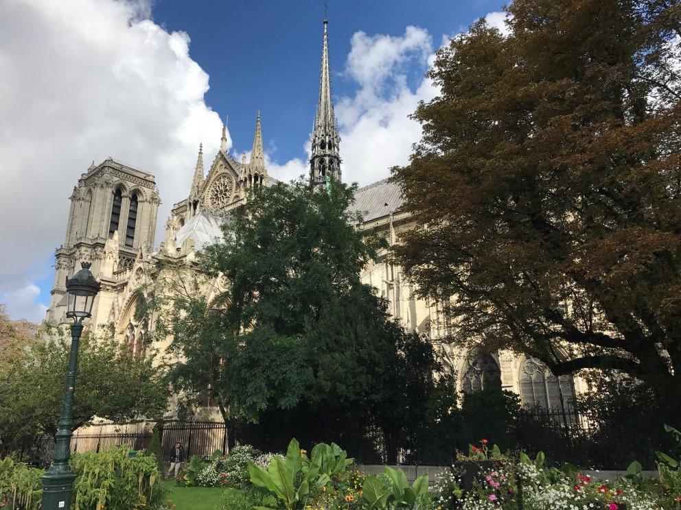 Honoring Notre-Dame-de-Paris - view from bridge