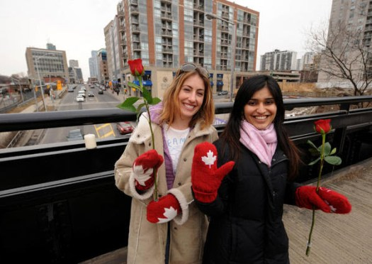 Women on Bridge Toronto Star March 4, 2011