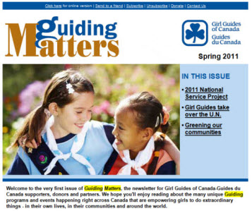 GGC's Enewsletter: Guiding Matters. Issue 1