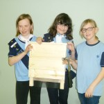 Kingfisher Patrol, aka Kookaburra (left to right Kerri, Amelia, and Sophie) with there finished house