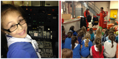 Guides visiting the 435 Search & Rescue Squadron, 17 Wing Winnipeg.