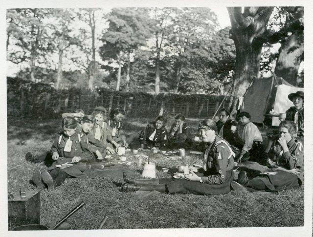 2nd Denbigh Guides in Camp
