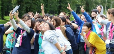 group at Japan girl guides event