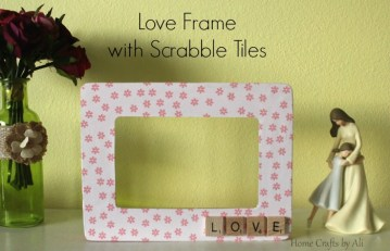 Love Frame with Scrabble Tiles