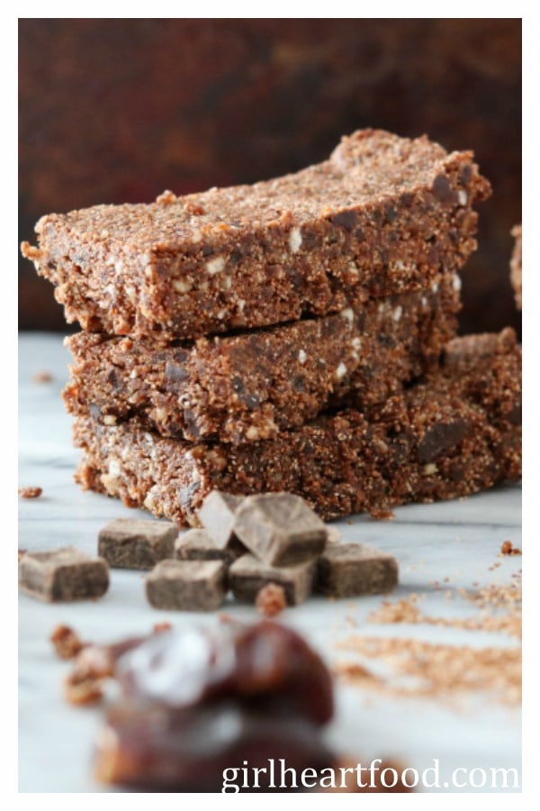 Teff Energy Bars {gluten free & whole grain} - girlheartfood.com
