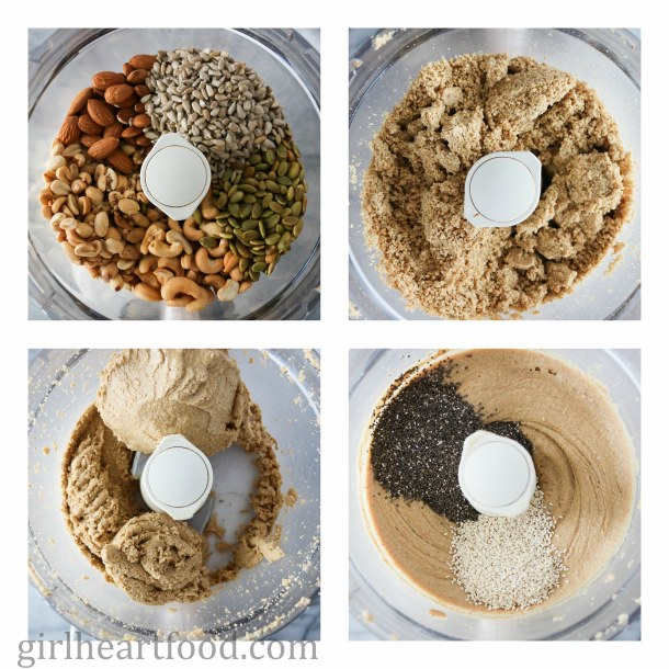 Mixed Nut and Seed Butter {vegan, gluten free, refined sugar free} - girlheartfood.com