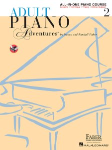 Book Cover: Adult Piano Adventures All-in-One Piano Course Book 2