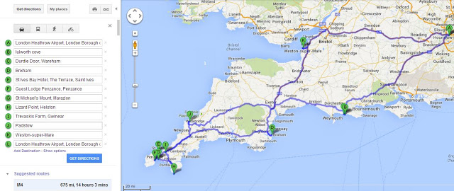 cornwall-road-trip-route-map