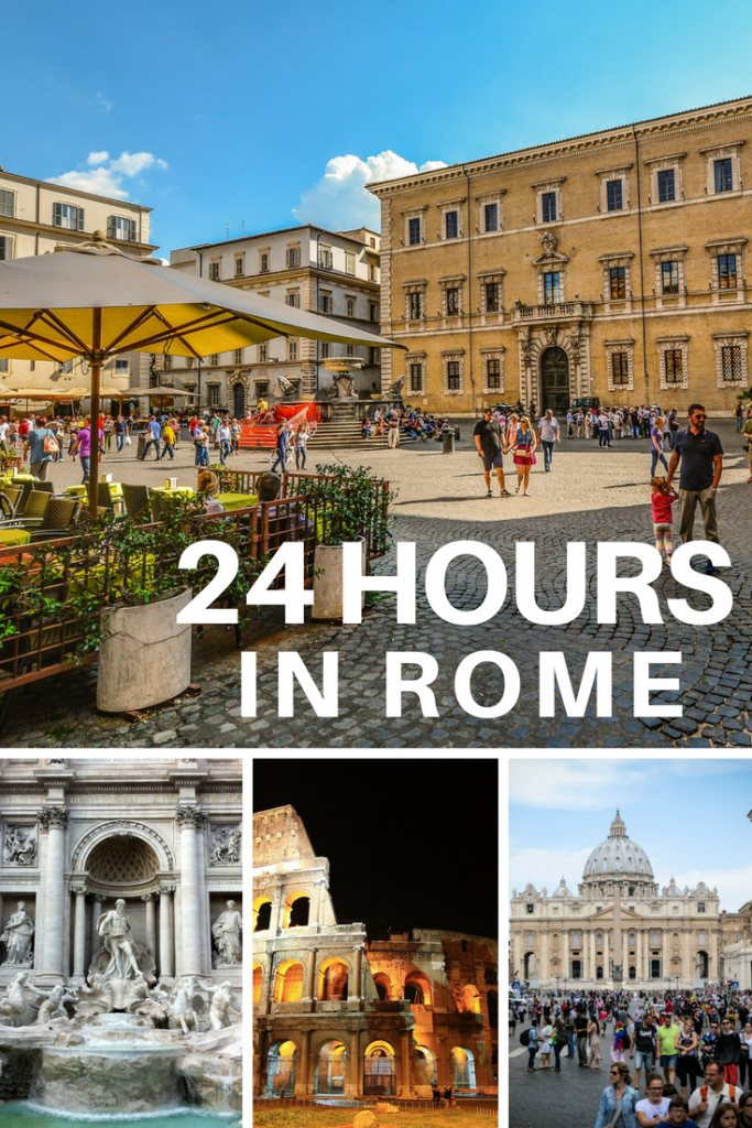 24 Hours in Rome: What to See and Do #rome #italy #romeinaday #travel #traveltips #romein24hours