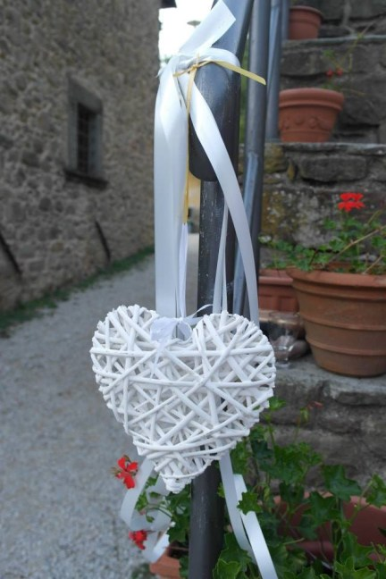 Tuscan wedding heart decoration