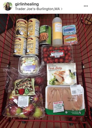 A sample shopping trip with real foods for Crohn's.