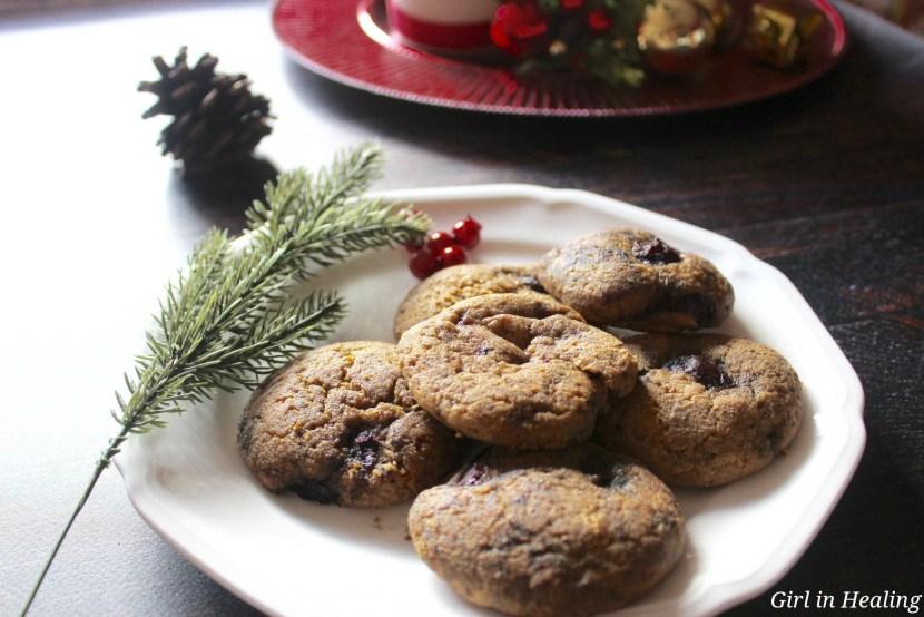 Cherry Amaretto cookie plate, gluten free, grain free, sugar free
