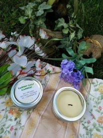 Earthy Gals Beeswax Candle, Soy Free