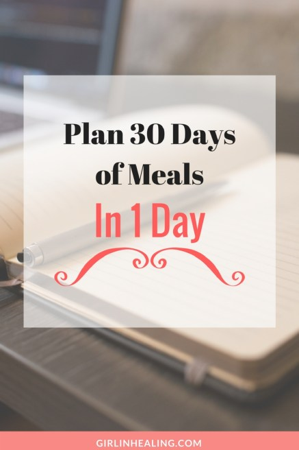 How to Plan 30 Days of Meals in 1 Day