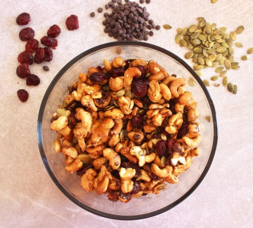 Maple Roasted Cashew Trail Mix (Gluten Free, Dairy Free, Paleo)