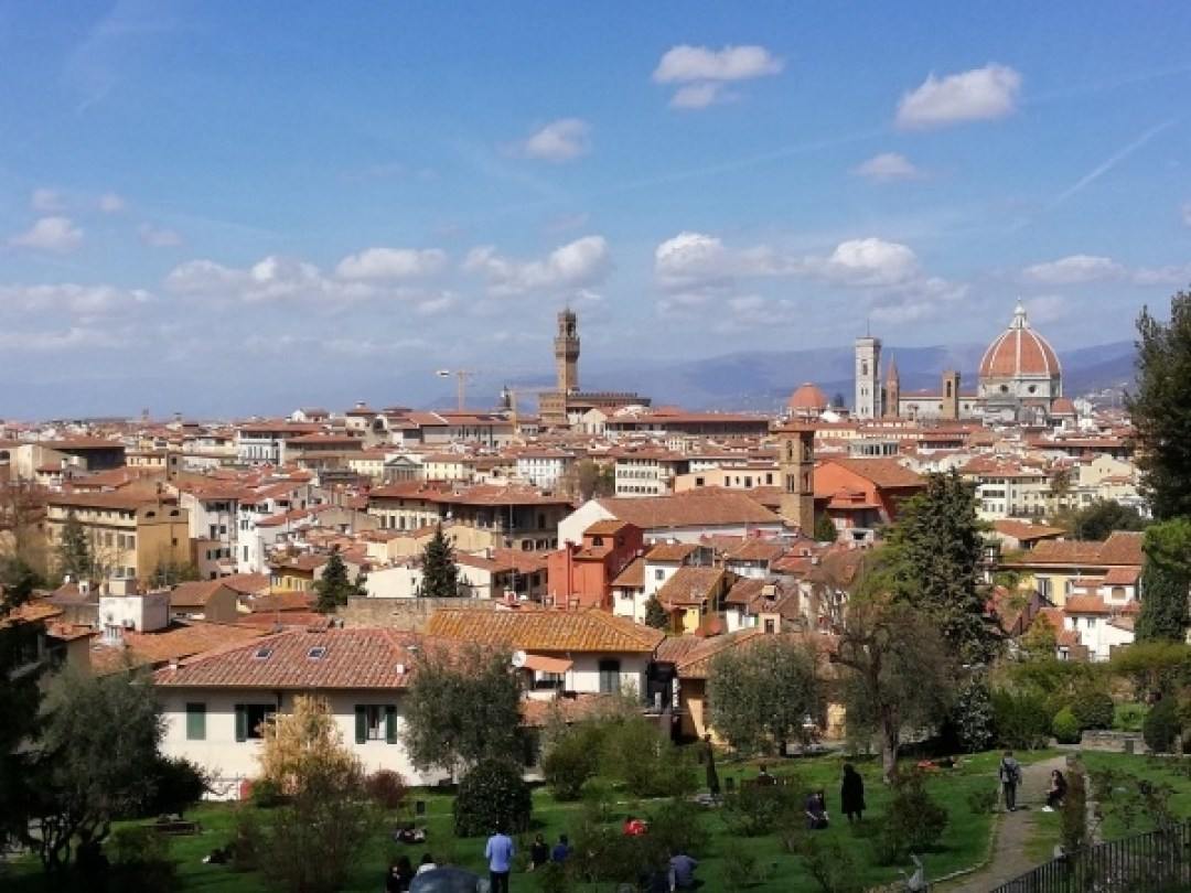 View of Florence skyline from Giardino delle Rose