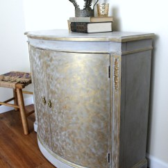 Grey Painted Chairs Desk Chair Keeps Sinking Gold And Gray Cabinet Metallic Themed Furniture Makeover