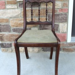 Vintage Wooden Chairs Swing Chair Shabby Chic Makeover Girl In The Garage