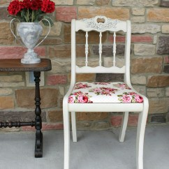 Shabby Chic Chair Kelly Green Sashes Makeover Girl In The Garage