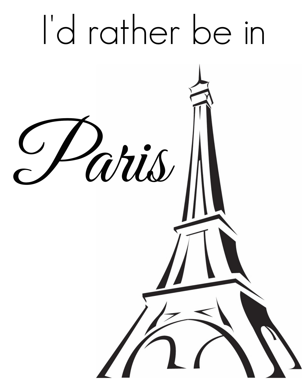 French Themed Printable Art