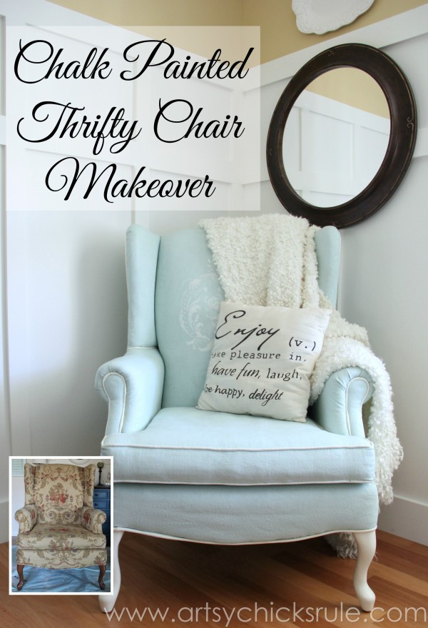 Painted Leather Chair Makeover with Annie Sloan Chalk