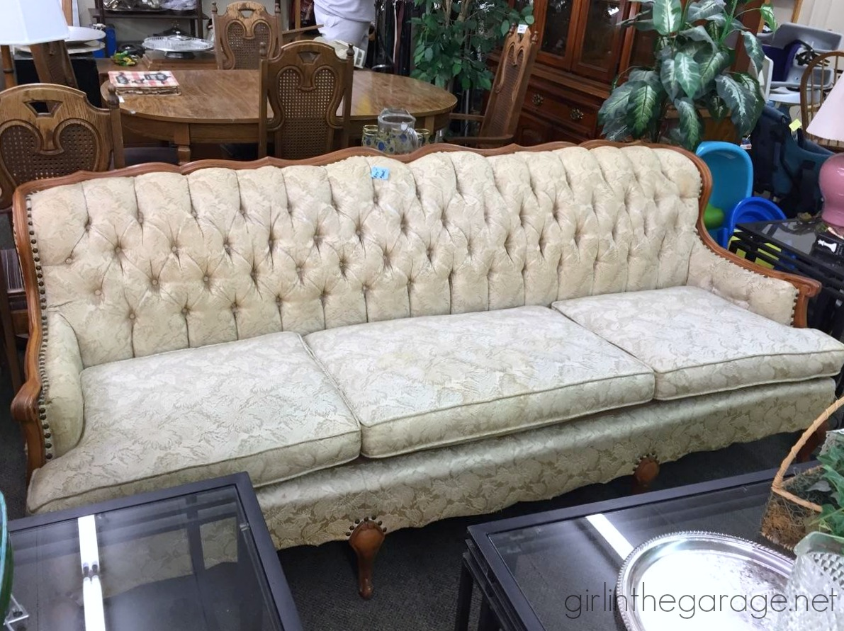french connection chalk sofa reviews sagging support board treasure hunting 6 fabulous furniture girl in the garage