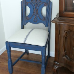 Old Blue Chair Exhibition Stand Grain Sack Makeover  Themed Furniture