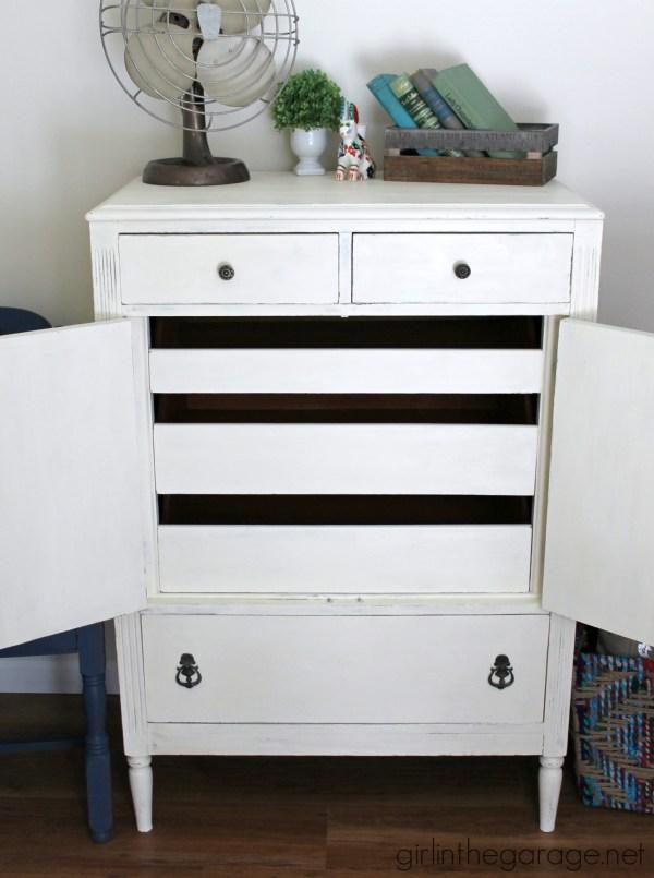 Antique White Dresser Chalk Paint