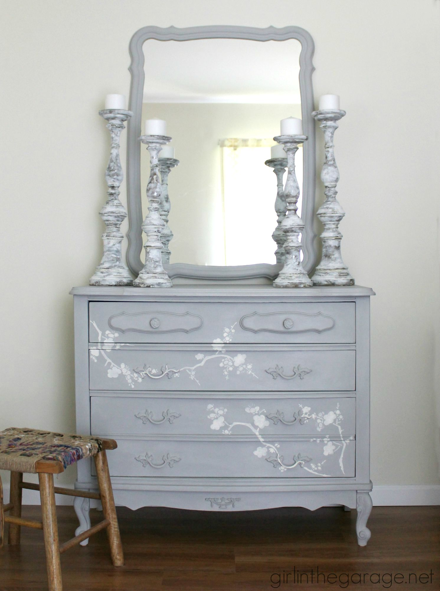 Chalk Paint and Cherry Blossoms  A Dresser Makeover  Girl in the Garage