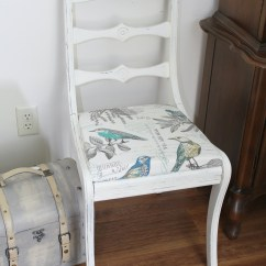 Retro White Chair Royal Blue Covers For Rent Vintage Makeover Girl In The Garage