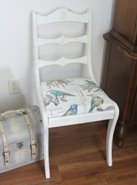 Vintage White Chair Makeover | Girl in the Garage