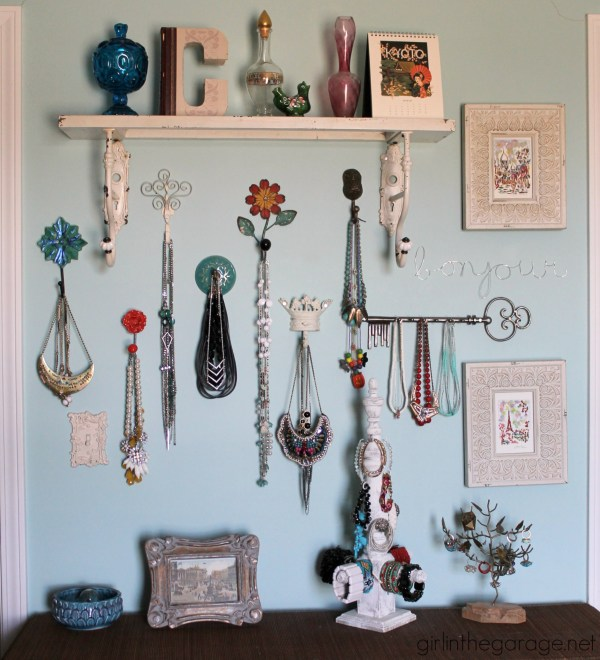 Diy Jewelry Wall Display Girl In Garage
