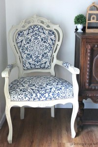 The Throne Chair  DIY Reupholstered Chair Makeover  And ...