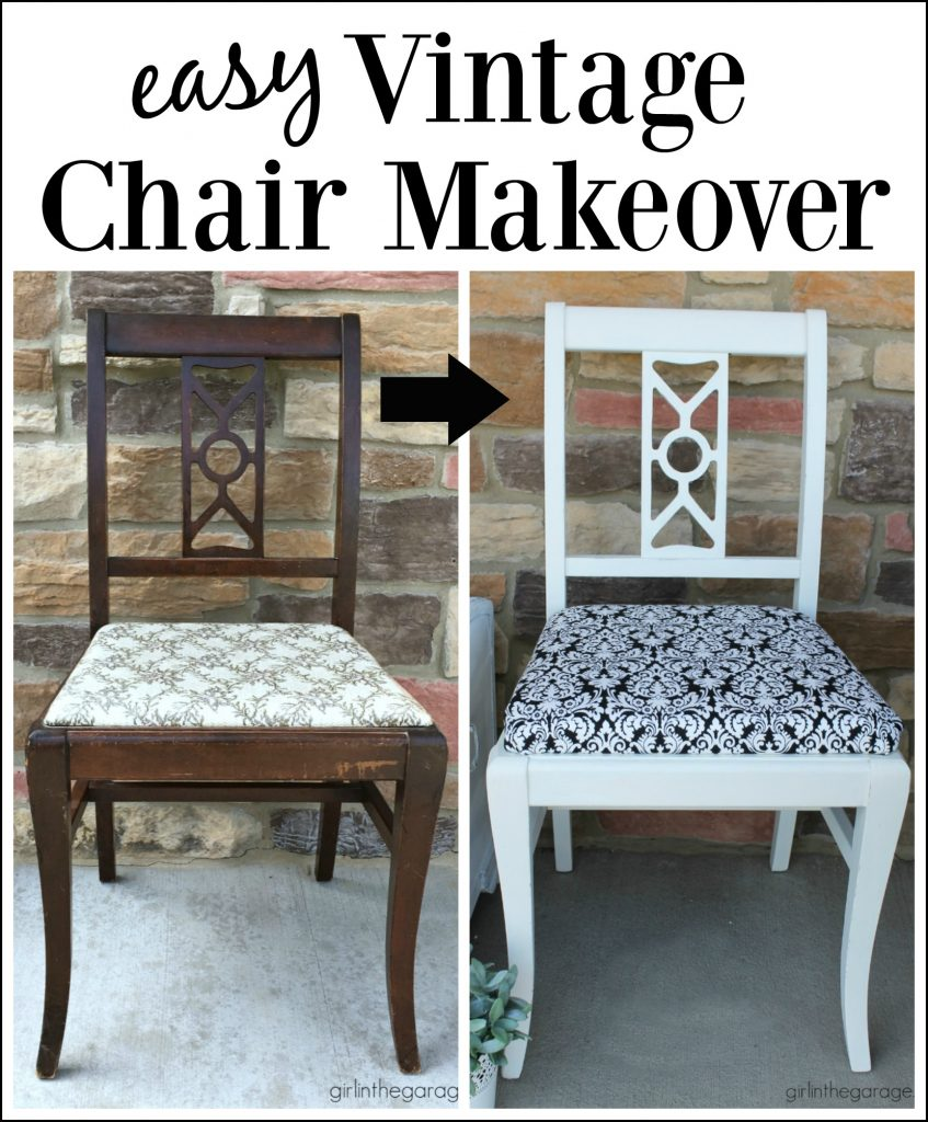 Easy Vintage Chair Makeover Girl In The Garage