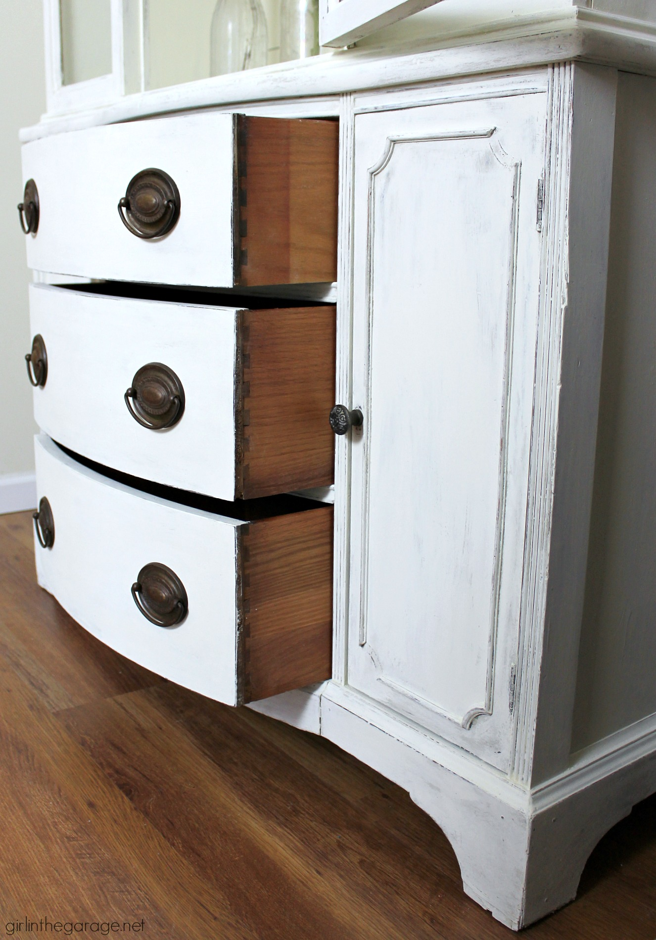 Farmhouse China Cabinet Makeover with Shiplap  Girl in