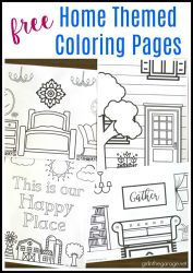 Printable House Coloring Pages Girl in the Garage®
