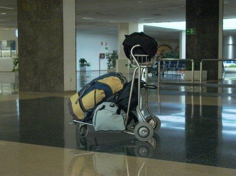 Luggage on cart, Marion Tran Van Huu