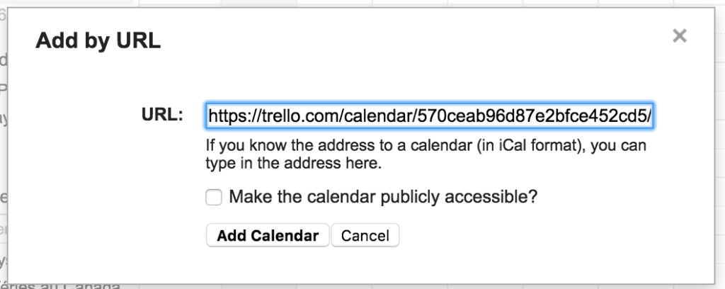 Add Trello to Google Calendar (Trello google calendar ical)