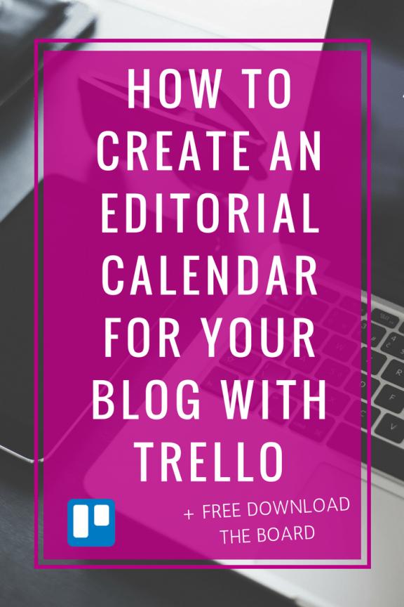 editorial calendar trello