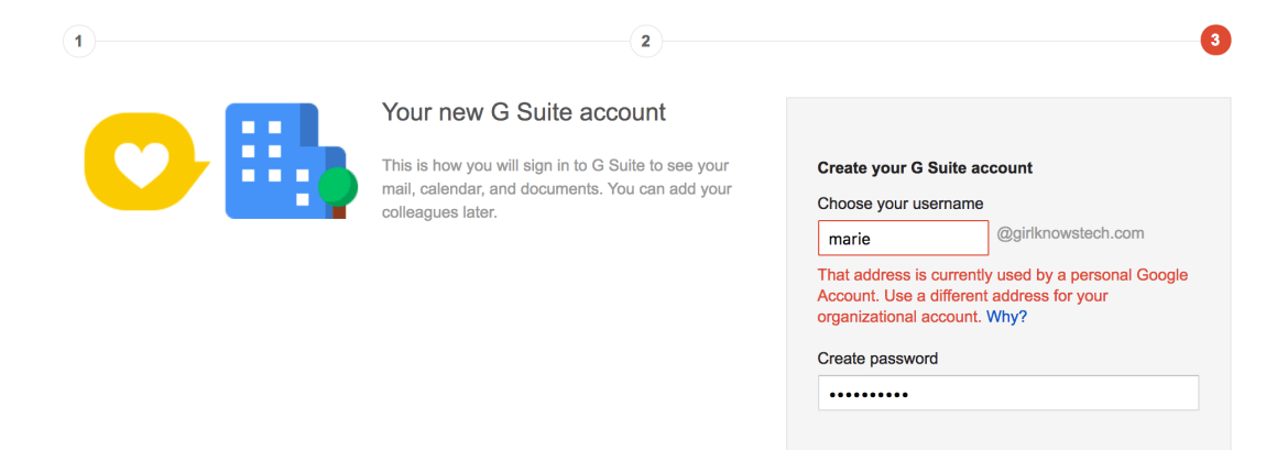 G Suite Address Already Used