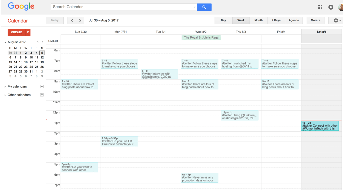 promotion article - Google Calendar