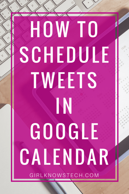 Learn how to schedule tweets directly from Google Calendar! Schedule recurrent tweets easily and fast! #twitter #schedule #automation