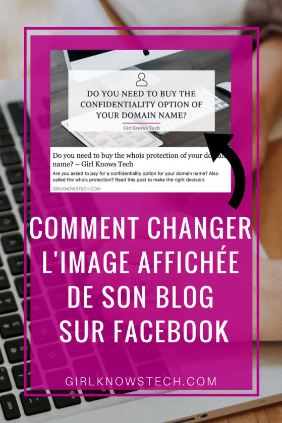 Comment changer l'image affichée sur Facebook partage article