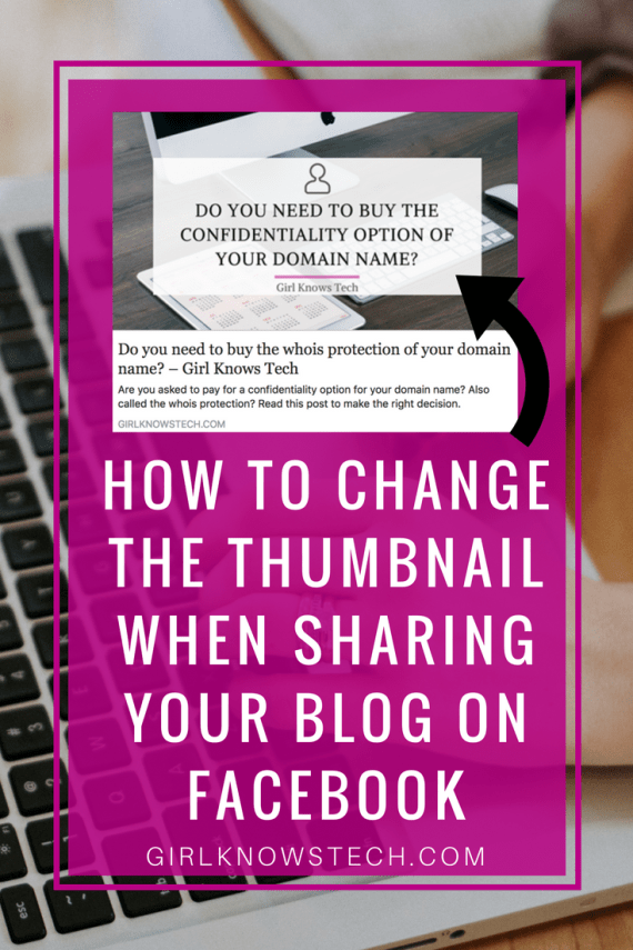 change facebook link thumbnail - How to change the thumbnail when sharing your blog on Facebook
