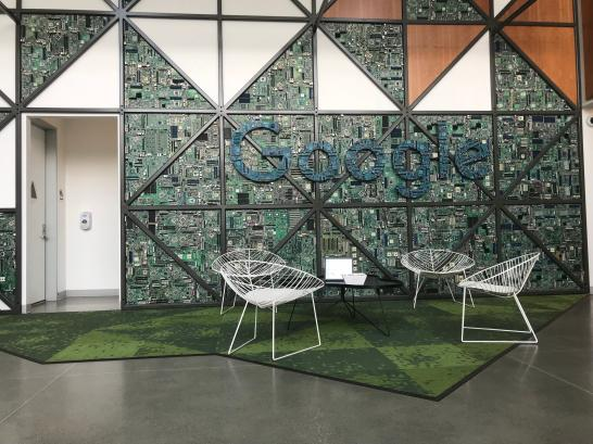 Google lobby at Moffet Place