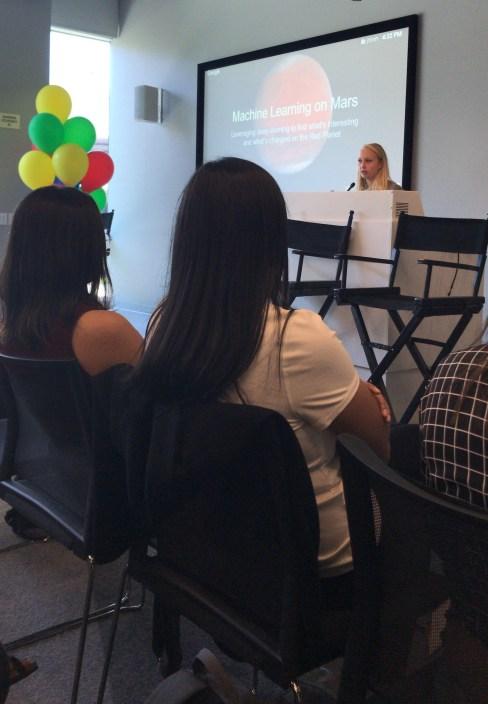 My friend Hannah giving her lightning talk at Google's 2018 Student Retreat