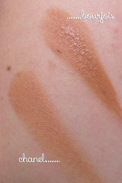 Chanel Soleil Tan de Chanel vs Bourjois Bronzing Primer Swatches