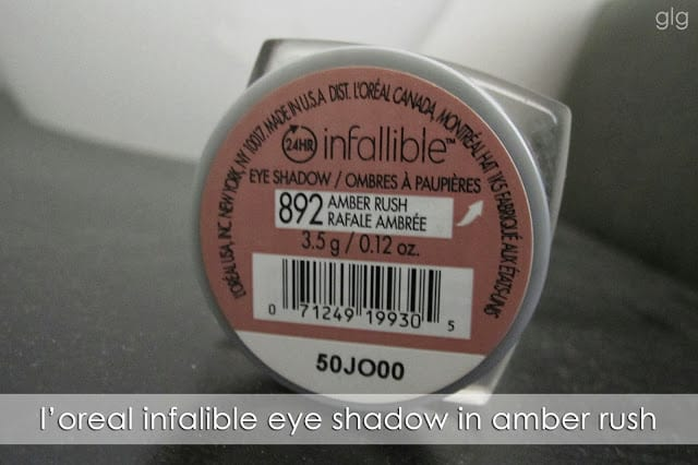 SEASONAL STAPLES | L'oreal Infalliable Shadow in Amber Rush