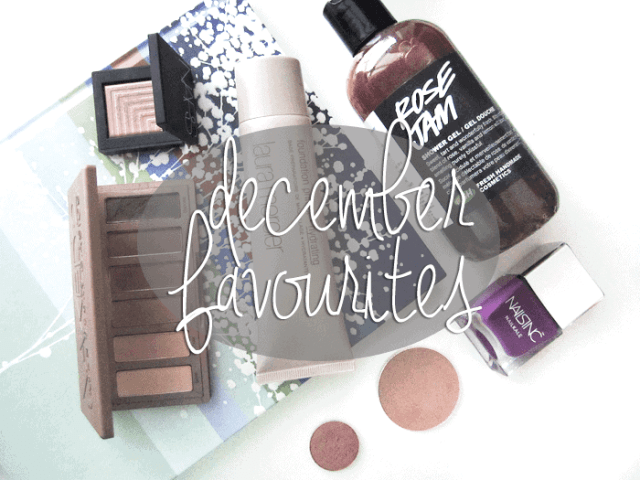 Girllovesgloss.com December beauty makeup favourites urban decay nars lush laura mercier nails inc mac