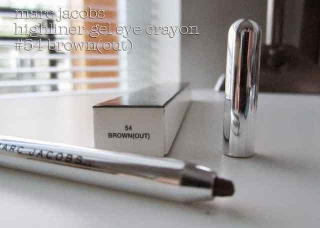 marc jacobs beauty highliner gel eye crayon in brown(out) on girllovesgloss.com makeup beauty blog